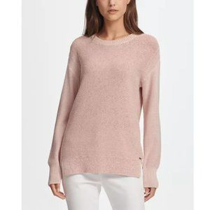 NWT  DKNY Tape Yarn Sweater, Pastel Pink M